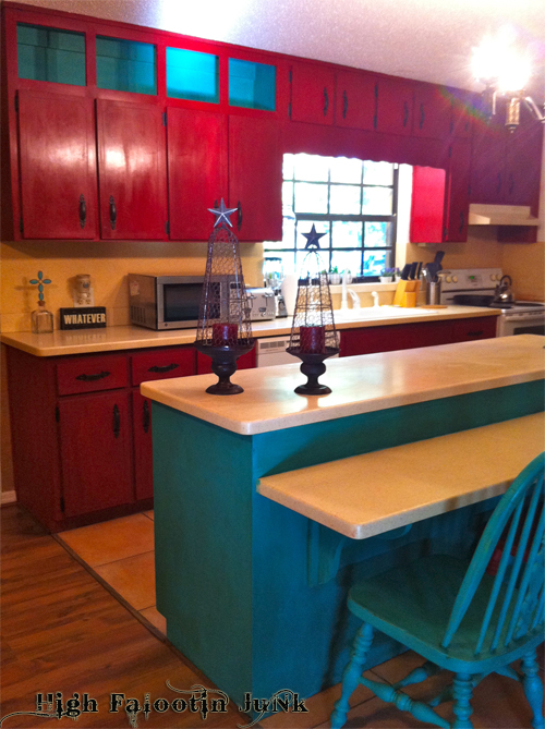Turquoise And Red Kitchen Johnny Gypsy